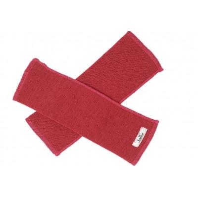 Wrist warmers wool, dark red