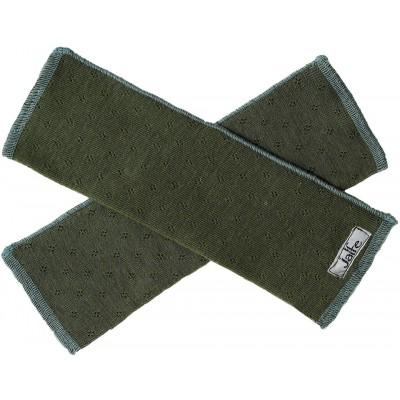 Wrist warmers wool, dark green