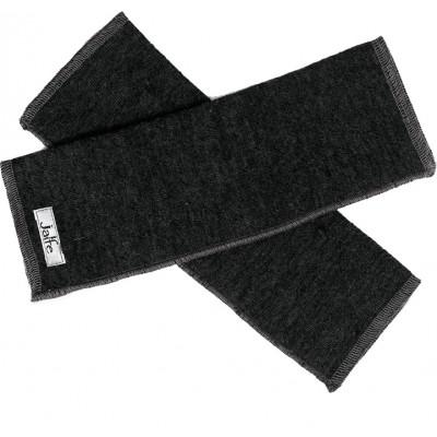 Wrist warmers wool melange, anthracite