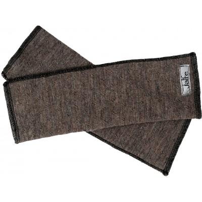 Wrist warmers wool melange, brown