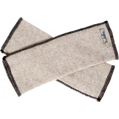 Wrist warmers wool melange, undyed