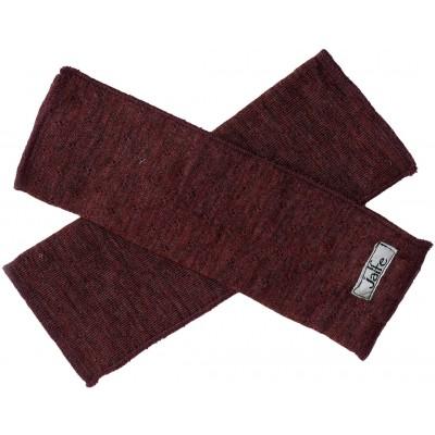 Wrist warmers wool melange, plum