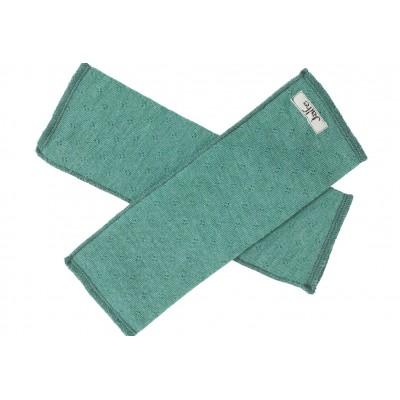 Wrist warmers wool melange, emerald