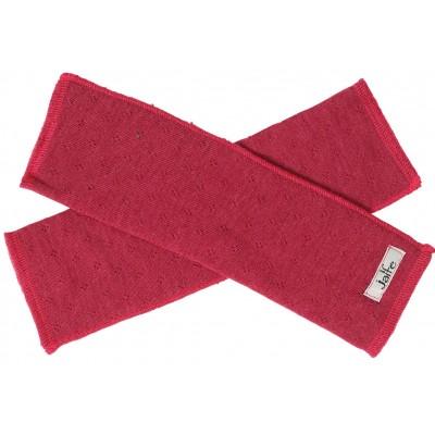 Wrist warmers wool melange, cherry