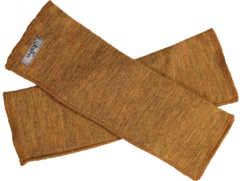 Wrist warmers wool melange, mustard