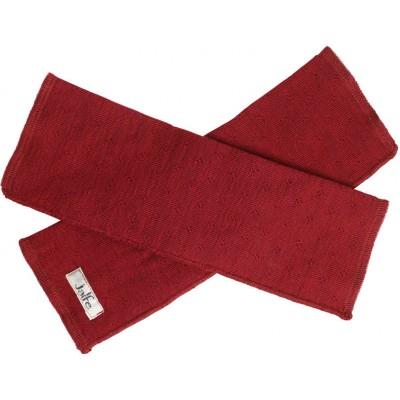 Wrist warmers wool melange, dark red