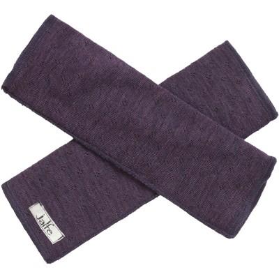 Wrist warmers wool melange, purple