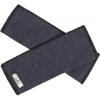 Wrist warmers wool melange, denim