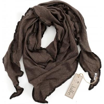 Scarf wool melange, brown