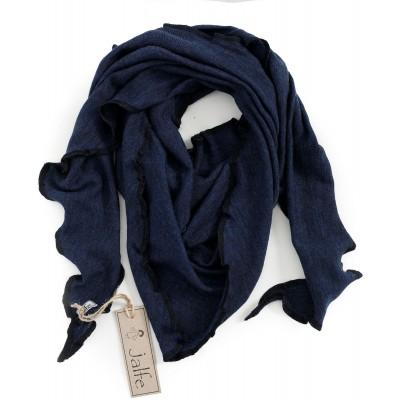 Scarf wool melange, jeansblue