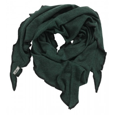 Scarf wool melange, dark green