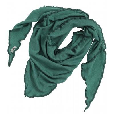 Scarf wool melange, emerald