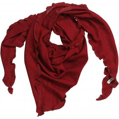Scarf wool melange, dark red