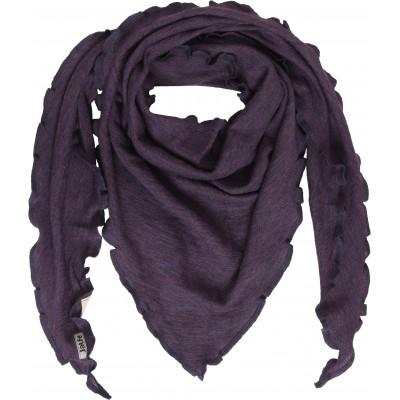 Scarf wool melange, purple