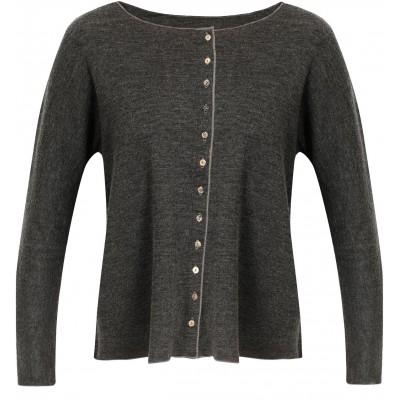 Oversize cardigan wool melange, anthracite
