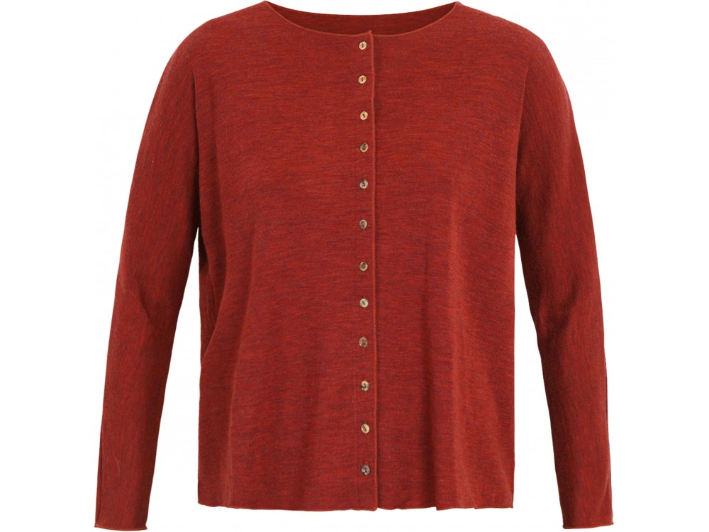 Oversize cardigan wool melange, rust