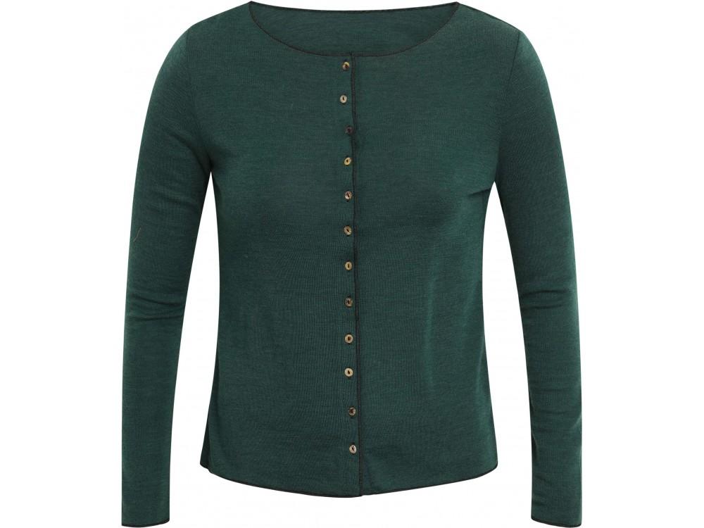 Cardigan wool, bottle green