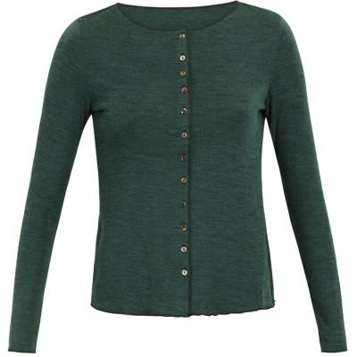 Cardigan wool melange, dark green