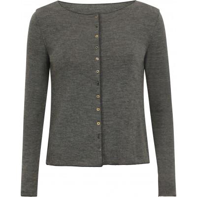 Cardigan wool melange, grey