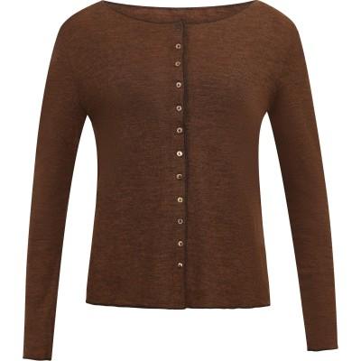 Cardigan wool melange, brown