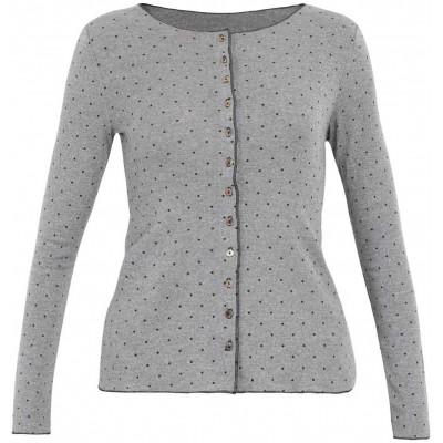 Cardigan wool dots, grey