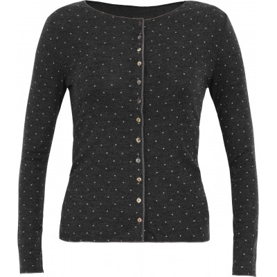 Cardigan wool dots, anthracite