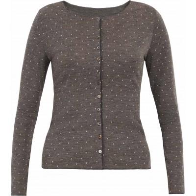 Cardigan wool dots, brown