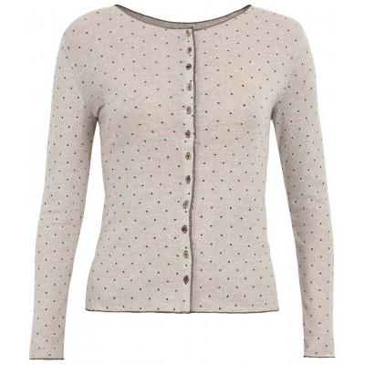 Cardigan wool dots, undyed