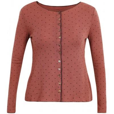 Cardigan wool dots, rose