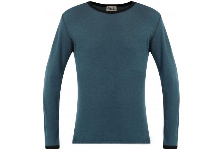 Men´s shirt wool, petrolgreen