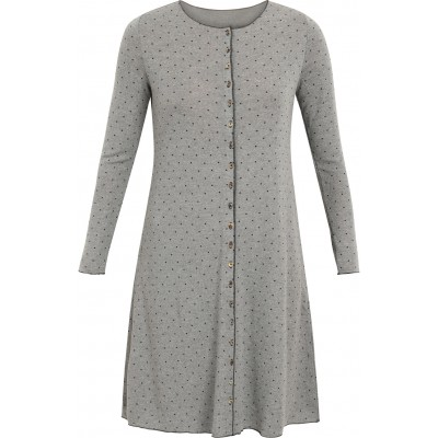 Button dress wool dots, grey