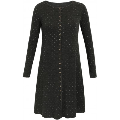 Button dress wool dots, anthracite