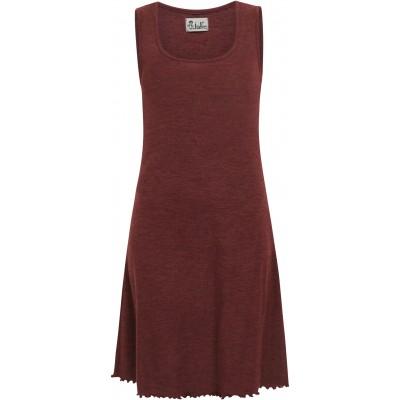 Basic dress wool melange, plum