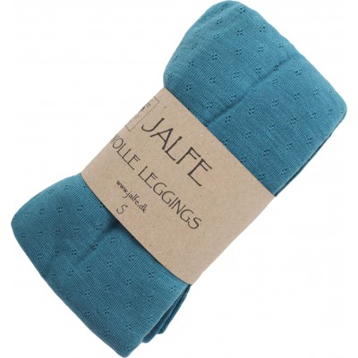 Leggings wool, turquoise