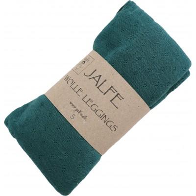 Leggings wool, bottle green