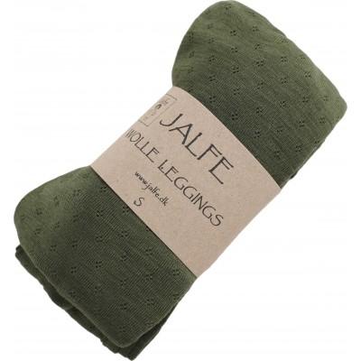 Leggings wool, dark green