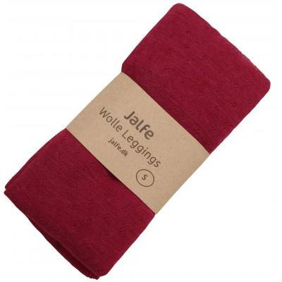 Leggings wool melange, cherry