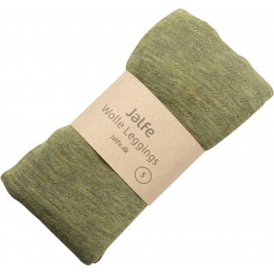 Leggings wool melange, light green
