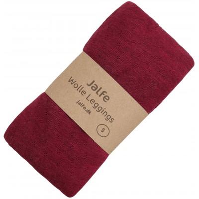 Leggings wool melange, kirsch