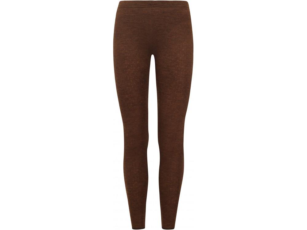 Leggings wool melange, brown