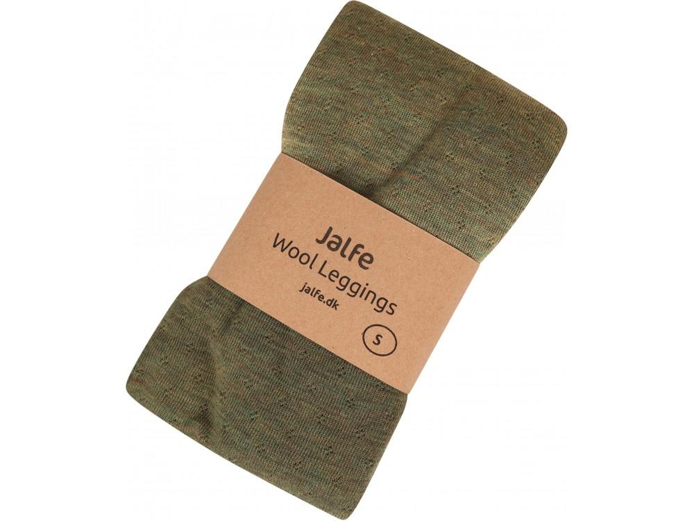 Leggings wool melange, olive