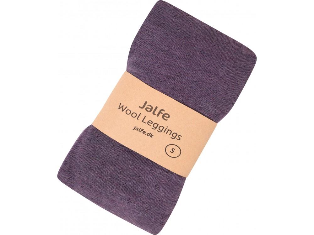 Leggings wool melange, purple