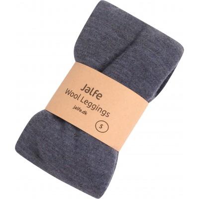 Leggings wool melange, denim