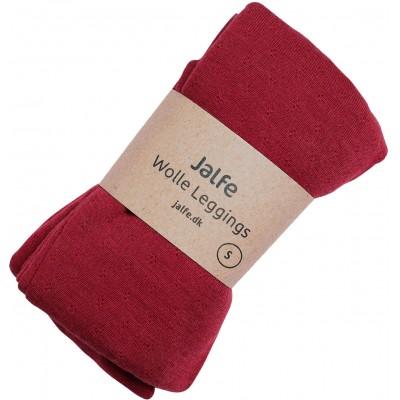 Leggings wool melange, dark red