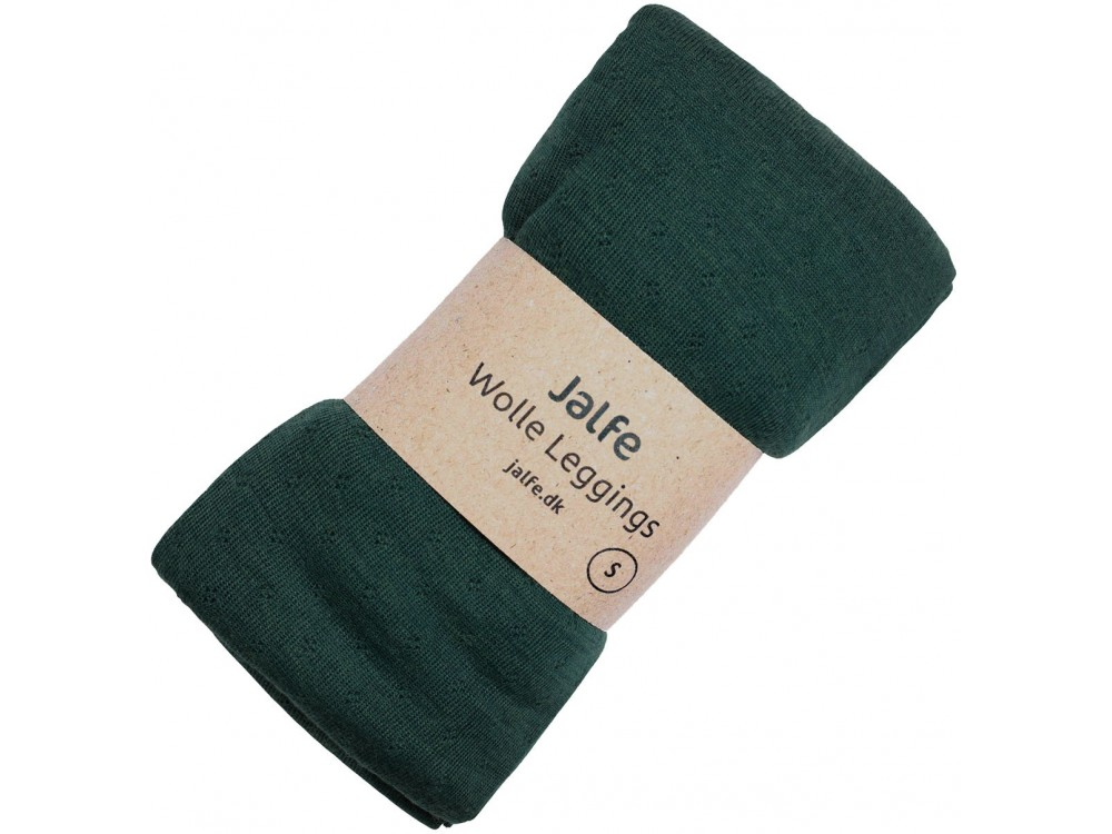 Leggings wool melange, forrest