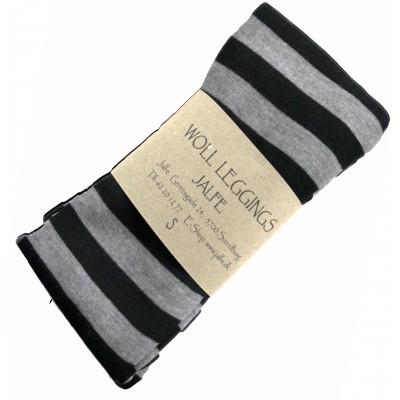 Leggings wool stripes, grey-black