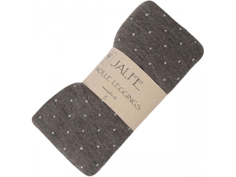 Leggings wool dots, brown