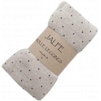 Leggings wool dots, yndyed