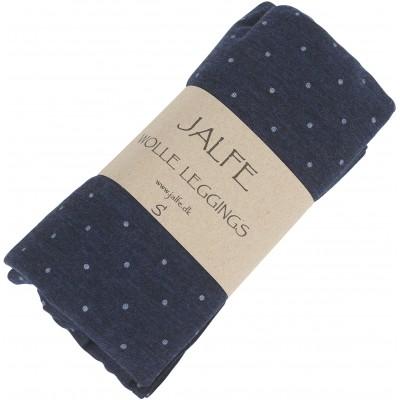 Leggings wool dots, jeansblue