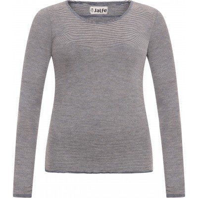 Shirt wool fine stripes, jeansblue-undyed